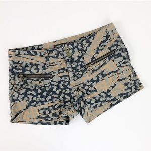 Forever 21 camouflage animal print shorts